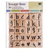 Lower Case Brush Alphabet Rubber Stamps